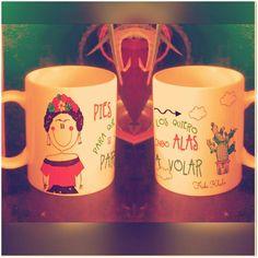 Tazon ilustrado!!! Frida Khalo!! Elige la frase que quieras !!! Personaliza!