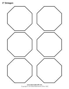Inch Hexagon Pattern Use The Printable Outline For Crafts