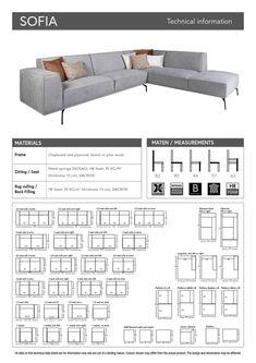 Sofia hoekbank €1.799,- ⋆ Nix Design ⋆ Löwik Meubelen Metal Spring, Chipboard, Wood And Metal, Floor Plans, House, Design, Home, Homes