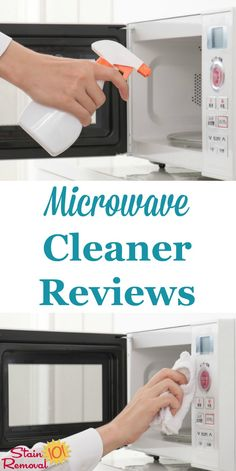 Here is a round up of microwave cleaner reviews, including both general cleaners and specialty products, to find out which products work best and which should stay on the store shelf {on Stain Removal 101}