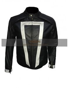 Agent Of Shield Ghost Rider Black Celebrity Leather Jacket Costume special discount offer on styloleather.com
