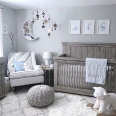 Star and moon nursery – Zimmer - Baby Room Moon Nursery, Star Nursery, Baby Nursery Decor, Baby Decor, Nursery Room Ideas, Baby Nursery Ideas For Boy, Gray Nursery Boy, Nursery Ideas Neutral, Babies Nursery
