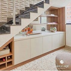 Staircase Interior Design, Home Stairs Design, Home Room Design, Stairs In Living Room, House Stairs, Modern Kitchen Design, Interior Design Kitchen, Kitchen Under Stairs, Room Under Stairs