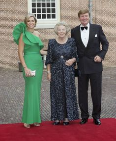MYROYALS &HOLLYWOOD FASHİON:  Gala Dinner for Prince Albert of Monaco, Palace Het Loo, June 3, 2014-Queen Maxima, Princess Beatrix, King Willem-Alexander