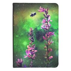 Pink Flowers & Bee Against The World Kindle Case