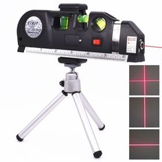 Use this Multipurpose Laser Level for hanging pictures, installing shelving. laying flooring, hanging wallpaper and more. Projects horizontal or vertical laser light beam. 1 X Tripod. keep the laser level away from water ,dust and sunlight. Vertical Horizon, Home Inventory, Step Drill, Drill Bit, How To Hang Wallpaper, Buy Tools, Buy Electronics, Decoration Originale, Light Beam