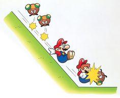 Mario Sliding   Super Mario World