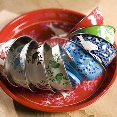 so pretty! Eva hand painted bowls