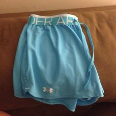 Jogging shorts UA Light blue Under Armour shorts. Women size M. Excellent condition, never worn. Under Armour Shorts