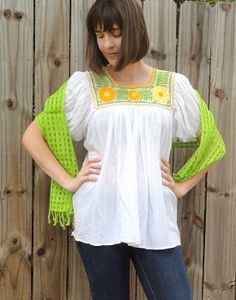 With a net-like open weave, these light and airy Guatemalan scarves are great for warmer weather. 100% cotton and available in a variety of colors http://www.elinterior.com/product-category/accessories/rebozos-shawls-and-scarves/