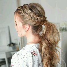 DIY Braided Ponytail Hair Tutorial - # Check more at haar. - DIY Braided Ponytail Hair Tutorial – # Check more at haar. Side Braid Hairstyles, Easy Hairstyles For Long Hair, Braids For Long Hair, Diy Hairstyles, Long Length Hairstyles, Wedding Hairstyles, Simple Braided Hairstyles, Summer Hairstyles, Braids Easy