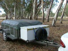 a look around my camper trailer Dirk's DIY camper trailer Diy Roof Top Tent, Diy Tent, Diy Camper Trailer, Tent Campers, Best Tents For Camping, Cool Tents, A Frame Tent, Large Tent, Diy Garage Storage