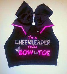 cheer sports bra! cute! #cheer #cheerleading #cheerleader