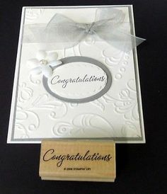 Love this simple card.  Wonderful wedding card