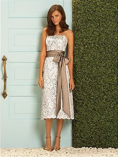 This would be perfect for our beach wedding, just not on the bridesmaids.. on me :)  simple simple simple but stunning!!