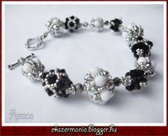 Free tutorial diagram for 2 beaded beads Chainberry Bracelet - Jewellery MANIA