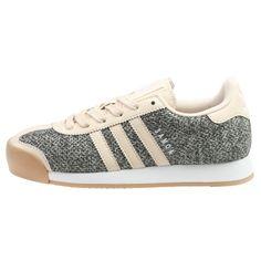 Adidas Samoa Textile Womens Bb8613 Linen Khaki Gum Shoes Sneakers Wmns Size 6.5