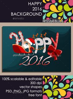 Happy Holidays Background — Photoshop PSD #card #christmas • Available here → https://graphicriver.net/item/happy-holidays-background/13483513?ref=pxcr