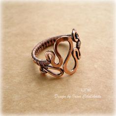 "Copper Ring ""Wave"" 