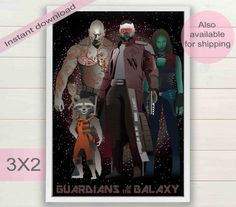 Guardians of the Galaxy movie digital by ArtsAndTravelPrints