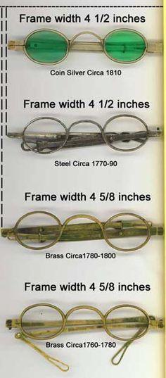 4177f5b1d2dc 18th century eye glass frames. 18th Century Dress
