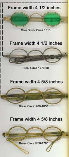 18th century eye glass frames.
