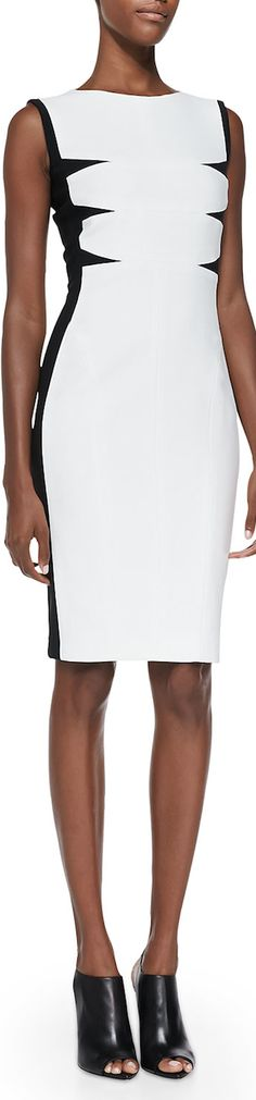 Narciso Rodriguez Triangular-Inset Scuba Dress