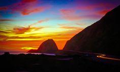Mugu Rock at sunset - Pacific Coast Highway Ventura County, CA