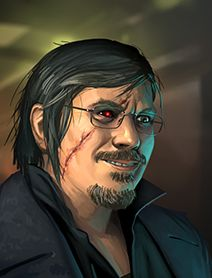 Steve Jackson, by David Nash Shadowrun Returns, Shadowrun Rpg, Character Portraits, Character Art, Character Design, Character Ideas, Cyberpunk 2020, Savage Worlds, World Of Darkness