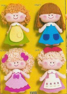 Las chorradikas de Laury: Preciosas muñecas en fieltro con patrones