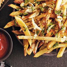 """Garlic """"Fries"""" - they're baked!  I may even cheat a bit, using frozen cut fries.  Also wonder if I can use """"Pam"""" butter spray, instead of butter.  I'll let you know how it turns out!"""