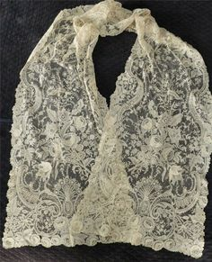 My choice for best lace from the 3/23/2014 Ebay Alerts. Point de Gaze rectangular shawl.
