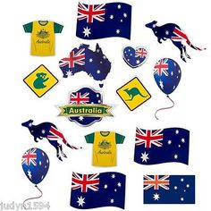 Pack of 15 australia day cutout #decorations australian #party bbq anzac #aussie ,  View more on the LINK: 	http://www.zeppy.io/product/gb/2/141531128912/