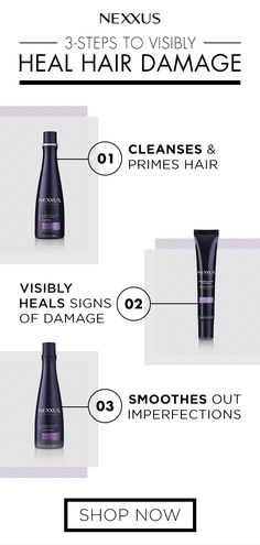 This hair care routine will visibly heal signs of severe hair damage. Nexxus Keraphix has an exclusive PROTEINFUSION blend of KERATIN PROTEIN AND BLACK RICE designed to nourish, heal and rebuild. Discover the new collection. Normal Hair Loss, Stop Hair Loss, Hair Care Routine, Hair Care Tips, Hair Tips, Hair Falling Out, Extreme Hair, Damaged Hair Repair, Color Your Hair