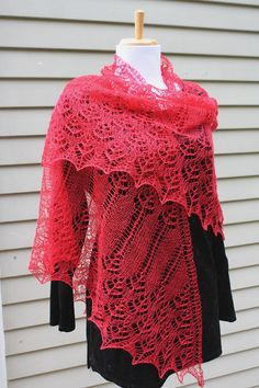 Knitted shawl  Shetland lace Vintage inspired by AllKnittedLace