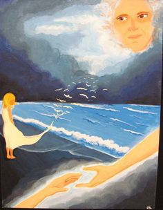 Missing You | By: Carly Ludwig | School: Kuemper Catholic High School | Acrylic on Painting. In memory of my mom, Sue Ludwig.