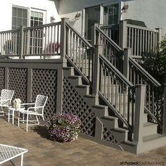 If your deck is built at higher elevations, you should definitely consider under deck lattice,  post covers, wraps or sleeves to hide the posts.