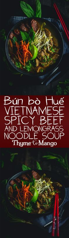 Move aside Phở, the next best Vietnamese soup is in town! Introducing Bún bò Huế, a taste bud tantalising beef and pork noodle soup that is sure to have you slurping from the bowl!