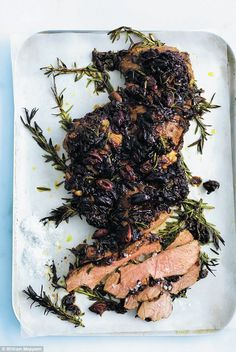 Donna Hay: Caramelised onion and olive roasted lamb - click on photo for recipe