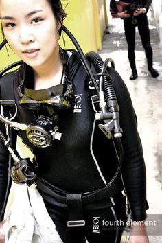 Diving Lessons, Scuba Girl, Scuba Diving, Wetsuit, Sporty, Punk, Asian, Facebook, Sexy