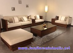 Wooden Sofa And Furniture Set Designs For Small Living Room With Dark  Carpet | Woods | Pinterest | Furniture, Wooden Sofa Set And Wood Part 65