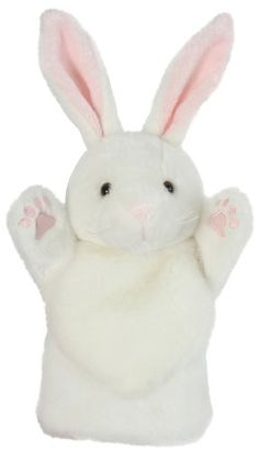The Puppet Company Long-Sleeves Black /& White Rabbit Hand Puppet