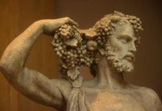 Drink Wine Day: The first wino was Dionysus: the god of the grape harvest, winemaking and wine, of ritual madness and ecstasy in Greek mythology. Cheers to Dionysus! Greek Gods And Goddesses, Greek Mythology, Art Du Vin, Drink Wine Day, Art Romain, Wine Lovers, History Of Wine, Greek Pantheon, Wine Art