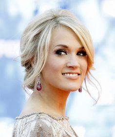 Carrie Underwood Messy Updo Hairstyle #wedding #hair