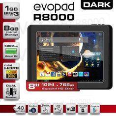 "DARK EVOPAD R8000 1 GB 8 GB 8"" ANDROİD 4.0 :: Onlinealisverismekan"
