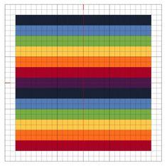Cross Stitch Rainbow Block 4 - The Crafty Mummy