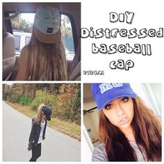 DIY Distressed Baseball cap