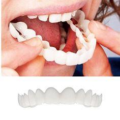 Tsmile Clearance Teeth Top Cosmetic Veneer, Cosmetic Dentistry Temporary Smile Comfort Fit Flex Cosmetic Teeth, Most Comfortable Denture Care Cosmetic Teeth, With FREE dental tools Hot Sale >>> See this great product. (This is an affiliate link) Veneers Teeth, Teeth Whitening Diy, Toothpaste Pimple, Teeth Braces, Free Dental, Smile Teeth, Perfect Smile, Mouth Guard, Cosmetic Dentistry