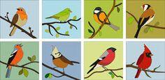 Картинки по запросу birds applique pattern