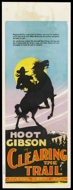 """Movie Posters:Western, Clearing the Trail (Universal, 1928). Australian Daybill (15"""" X40""""). ... Image #1"""